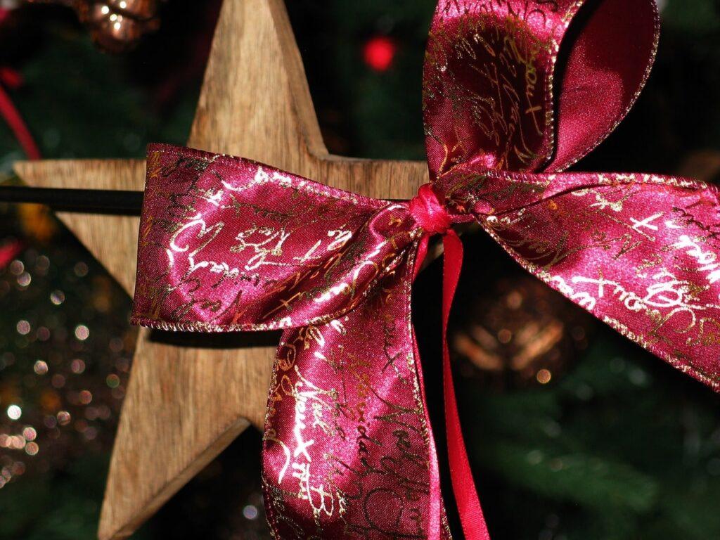 Fiocco natalizio per l'albero