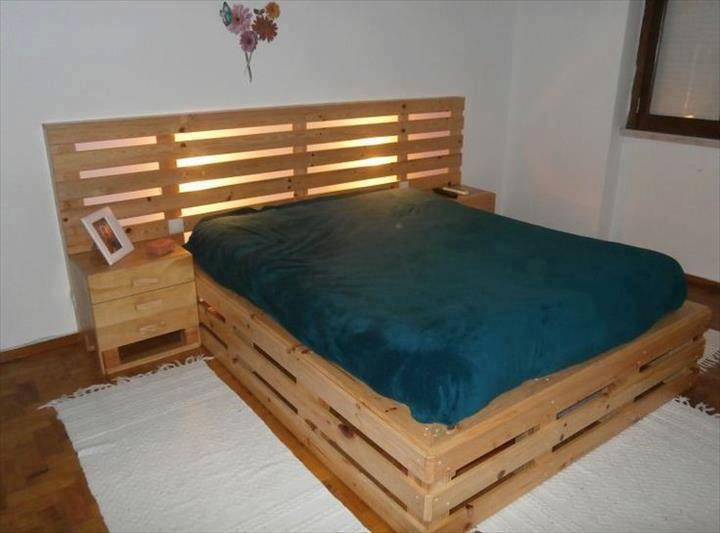 arredamento fai da te: Testiera del letto con i pallet