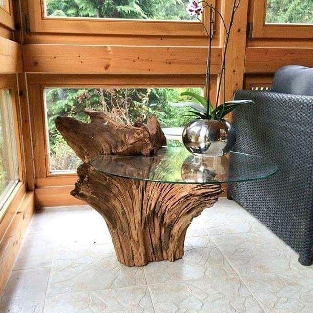 Arredare casa con i tronchi di legno