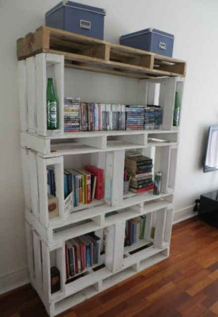 Arredamento Fai Da Te: libreria con i bancali