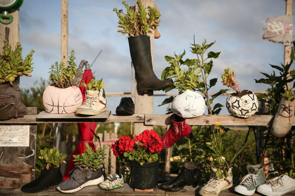 Decorare il giardino riciclando