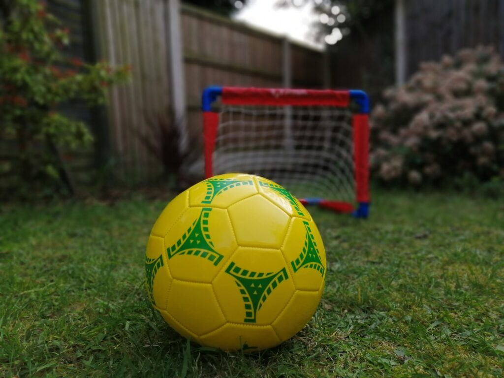 porta da calcio in giardino