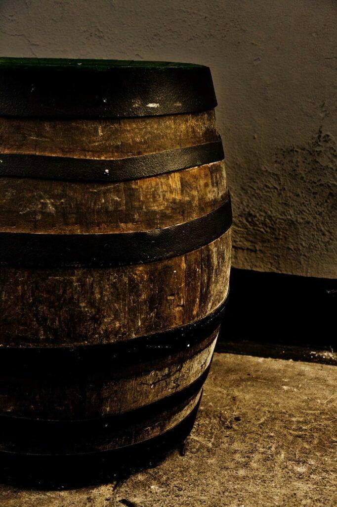Botti di vino riciclate
