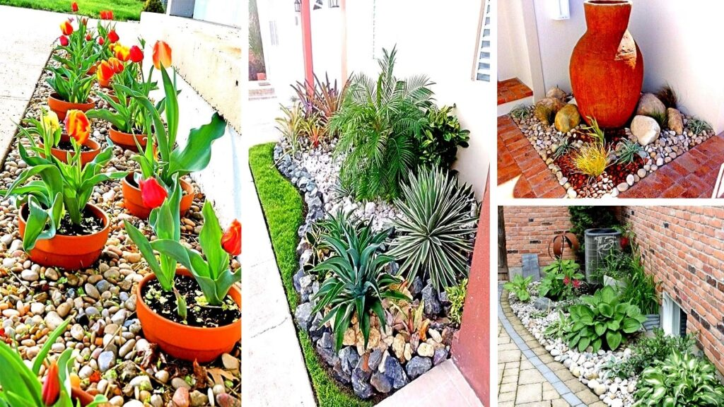 Come decorare il giardino con i ciottoli