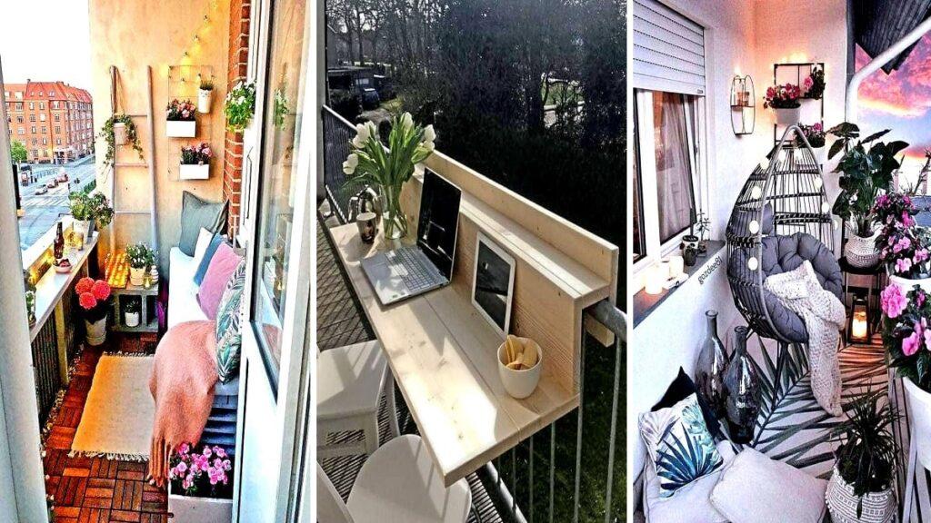 Come arredare un balcone lungo